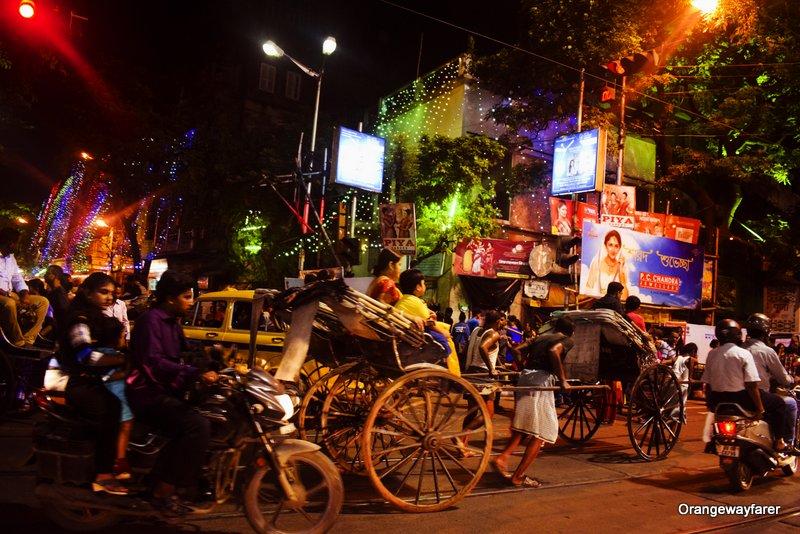 Tram Line and Hate tana Rickshaw Kolkata