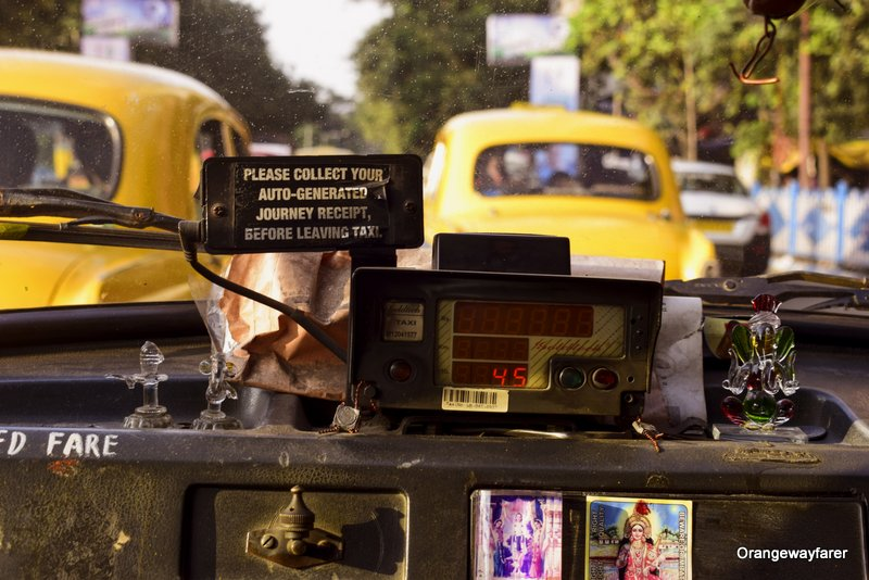 Kolkata Yellow Taxi Vintage Photo