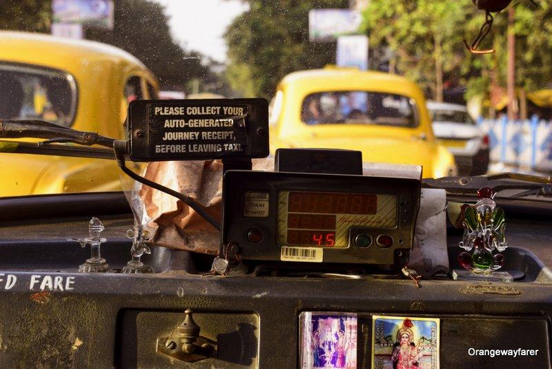 Kolkata Yellow Taxi Vintage Photo
