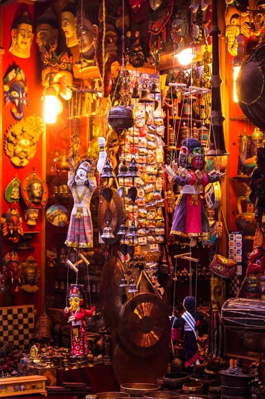 SOuvenier shopping at Kathmandu nepal
