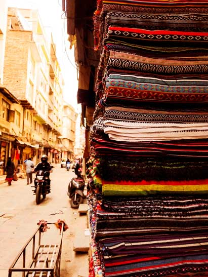 Hand woven fabric for sale in Kathmandu, Nepal