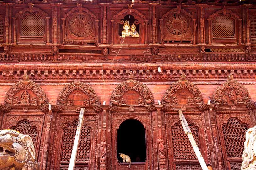 The SHiva temple at Durbar square kathmandu Nepal