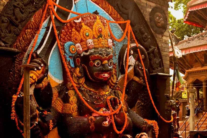 Kalbhairav at Durbar square, Kathmandu Nepal