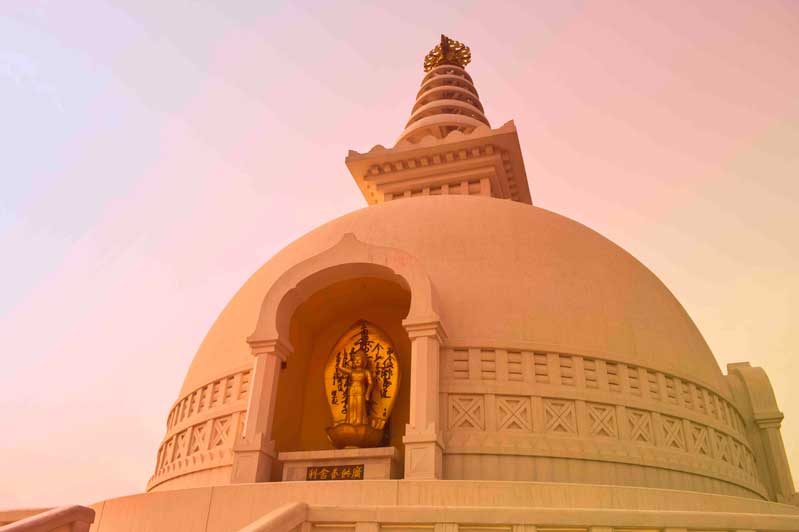 The peace pagoda at Lumbini