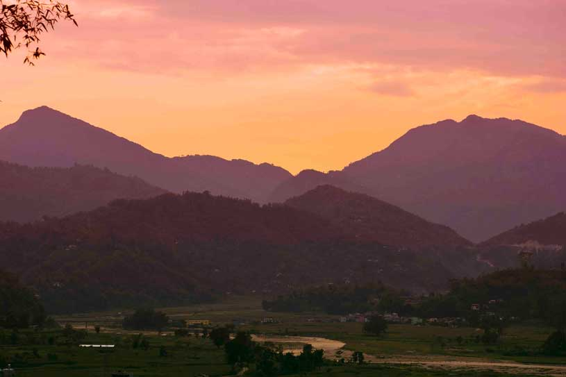 Sunset scene at pokhara
