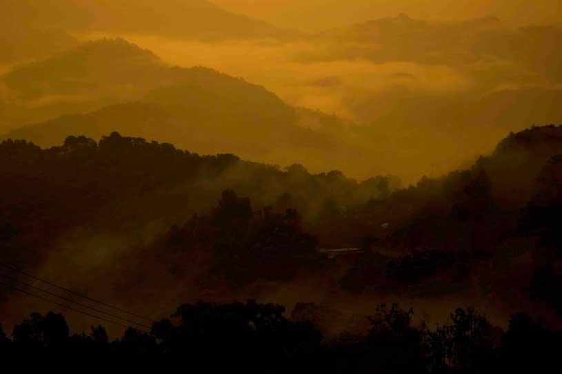 Sunrise at Sarangkot: Sunrise point near Pokhara