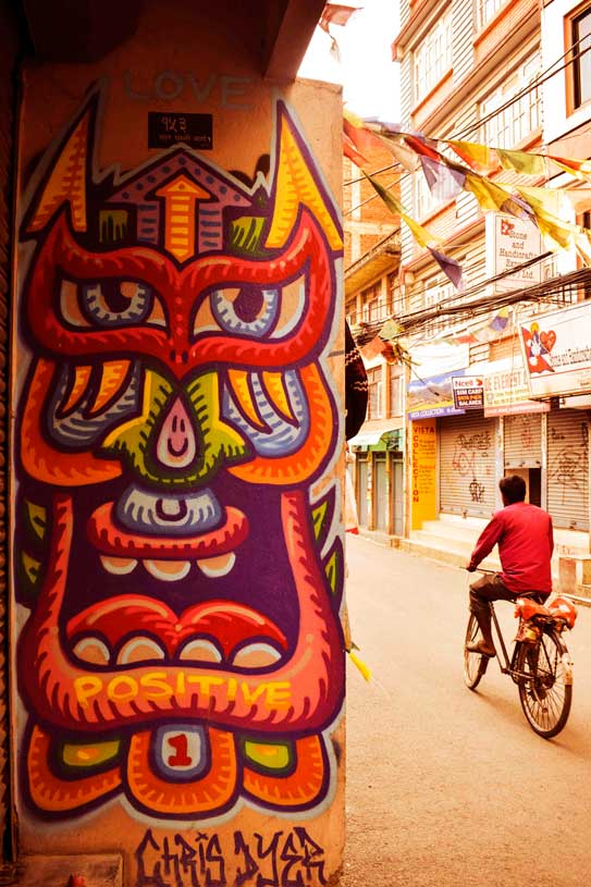 Thamel wall art graffiti