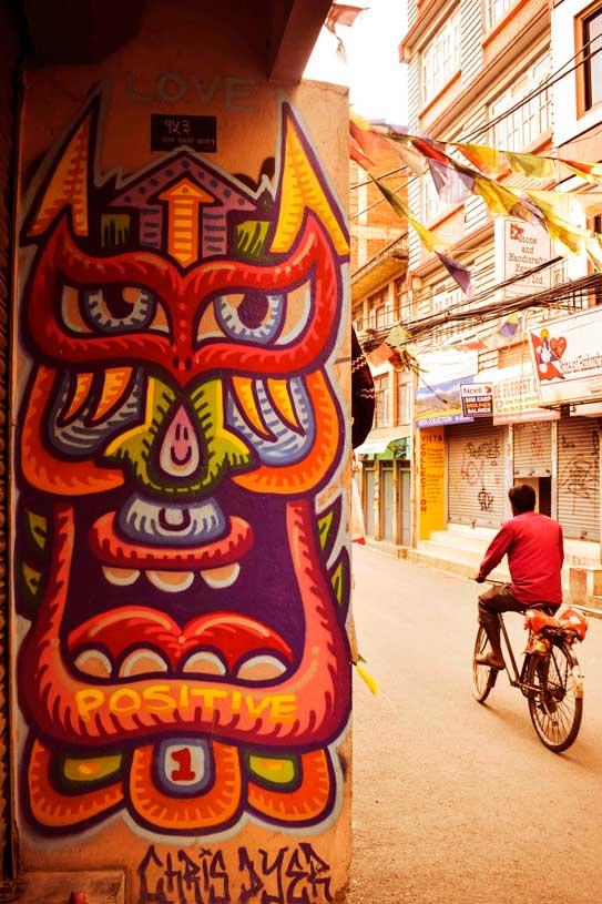 Thamel wall art graffiti