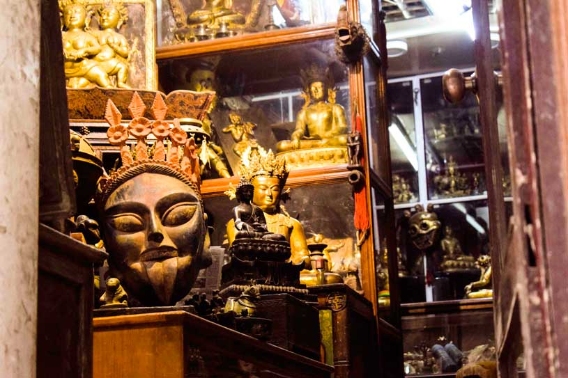 SOuvenier from nepal, the masks at Thamel market in kathmandu