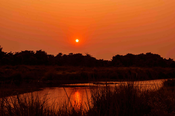 Sunset at Rapri River, Chitwan National Park, Nepal a complete Travel guide