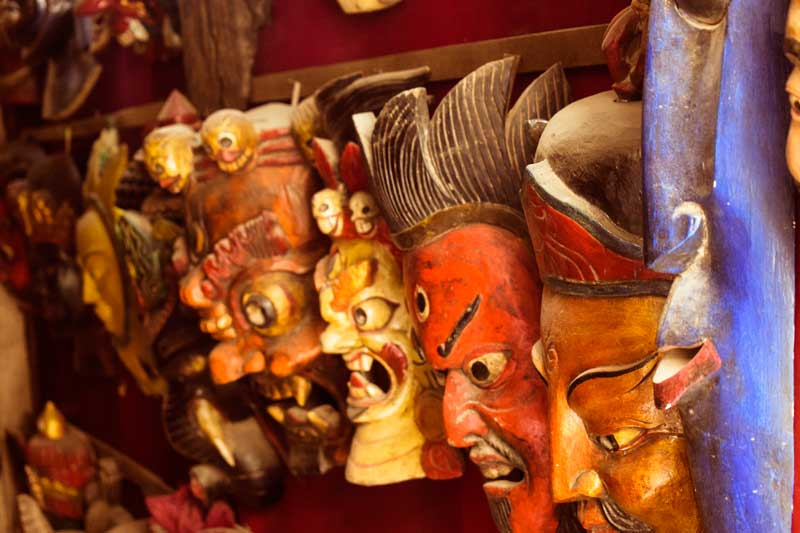 Various masks of nepal