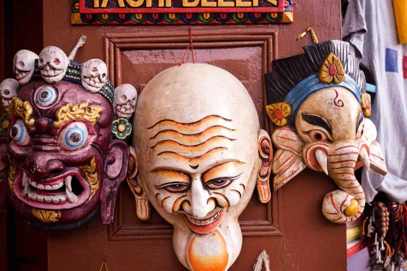 nepalese mask. Ganesh mask.