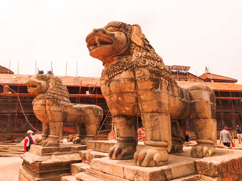 Bhaktapur Durbar Square after the Gorkha Earthquake: The rebuilding of Bhaktapur