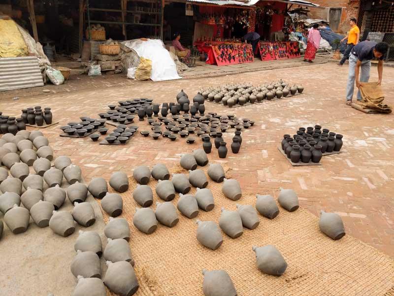 Pottery Square of Bhaktapyr, Nepal