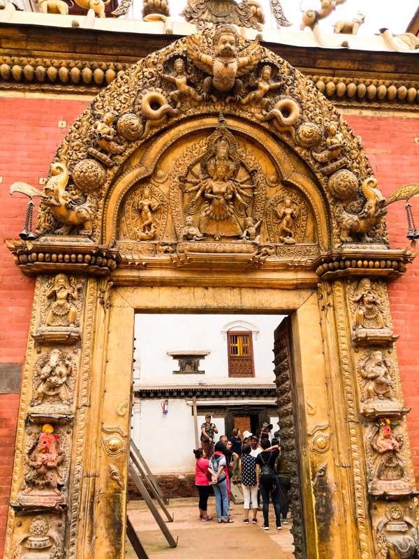 The golden gate at Taleju Bhabani Complex, Bhaktapur