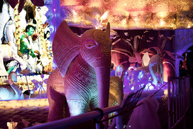 durga puja decoration: ballygunge cultural