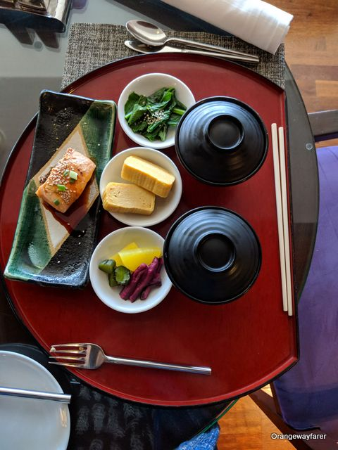 Miso soup served for breakfast at the PullmanG hotel, Bangkok