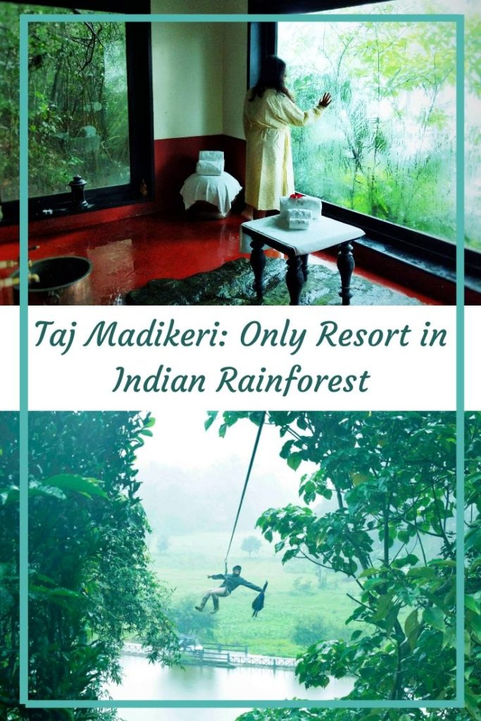 Indian Monsoon is lush green and a brings in joys of new life on Earth! Where else but the Western Ghats promise the most beautiful monsoon experience in India> That too, double with the iconic property of Taj? The Taj Madikeri Spa and Resort: A detailed Review!  #coorg #karnataka #hillstation #indianhillstation #indiatravel #southindia #monsooninindia #weekendgateway #travelindia #offbeatindia #madikeri #luxuryresort #sparesort #bangalore #wellnessresort #rainforest #tajhotel
