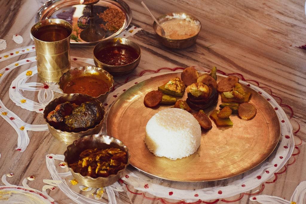 Bengali wedding aaiburobhat menu