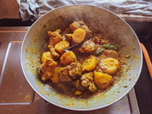Mutton kosha, sunday lunch for bengali households