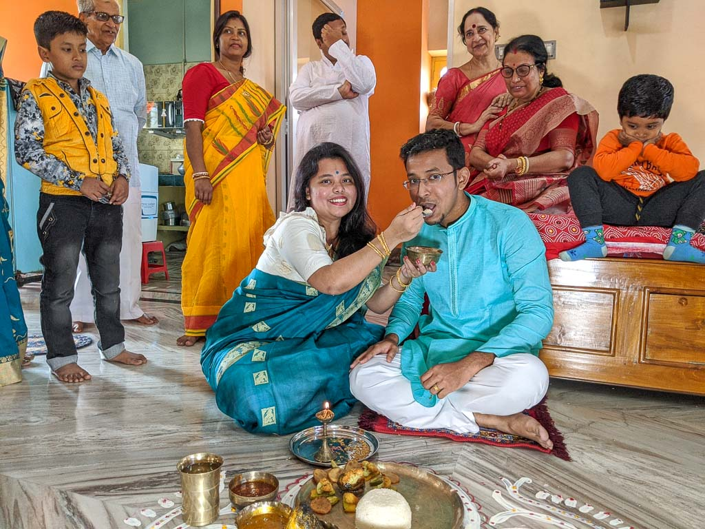 Bengali wedding aaiburobhat