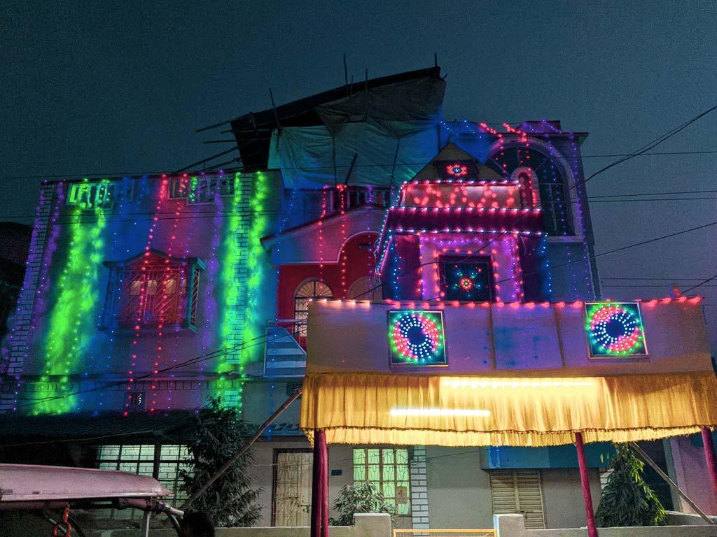 Bengali wedding lighting