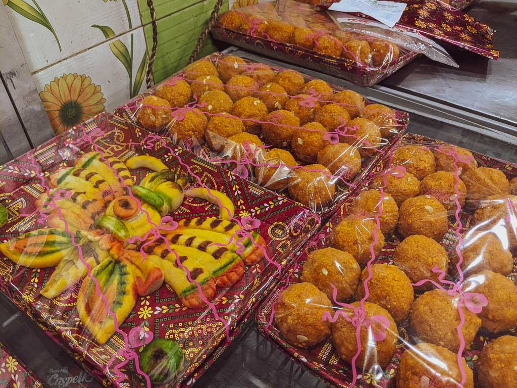 Totwo sweets in a bengali wedding