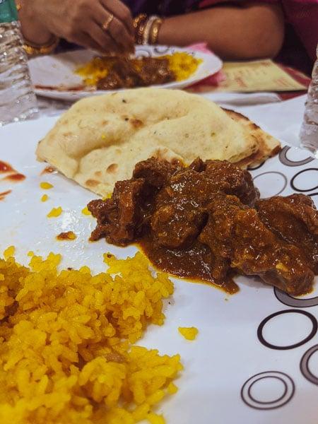 mutton kosha and basanti Pulav: Bengali wedding menu