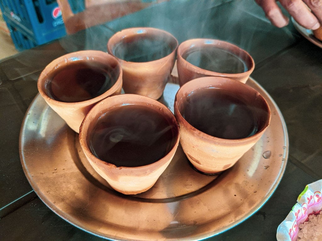 Cha in earthen pot, Indian chaye: sustainable practice of Indian rural area
