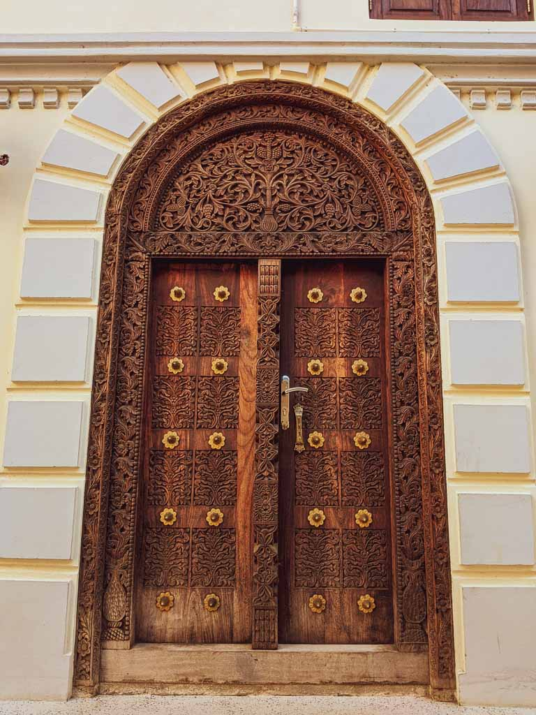 Indian door at Stone Town Zanzibar