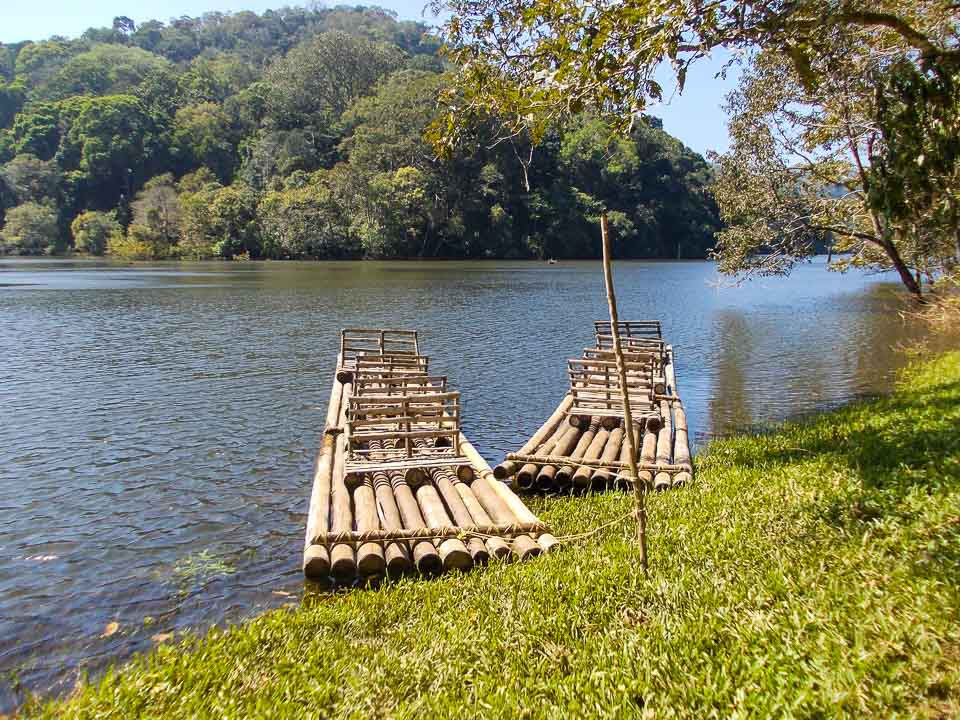 Bamboo rafting at Periyar National Reserve, Kerala: best places to travel in India