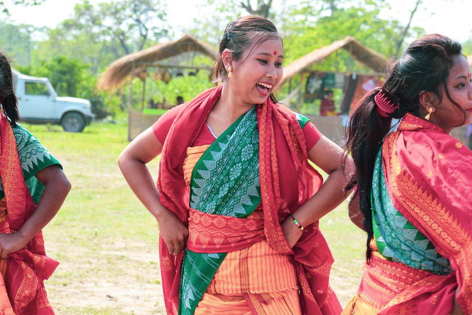Manas National Park: Bodo tribes performing Bagrumba dance