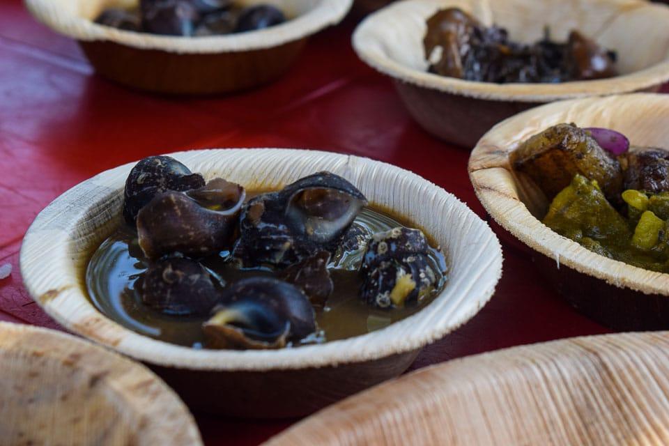 Snails served in Bodo Cuisine assam
