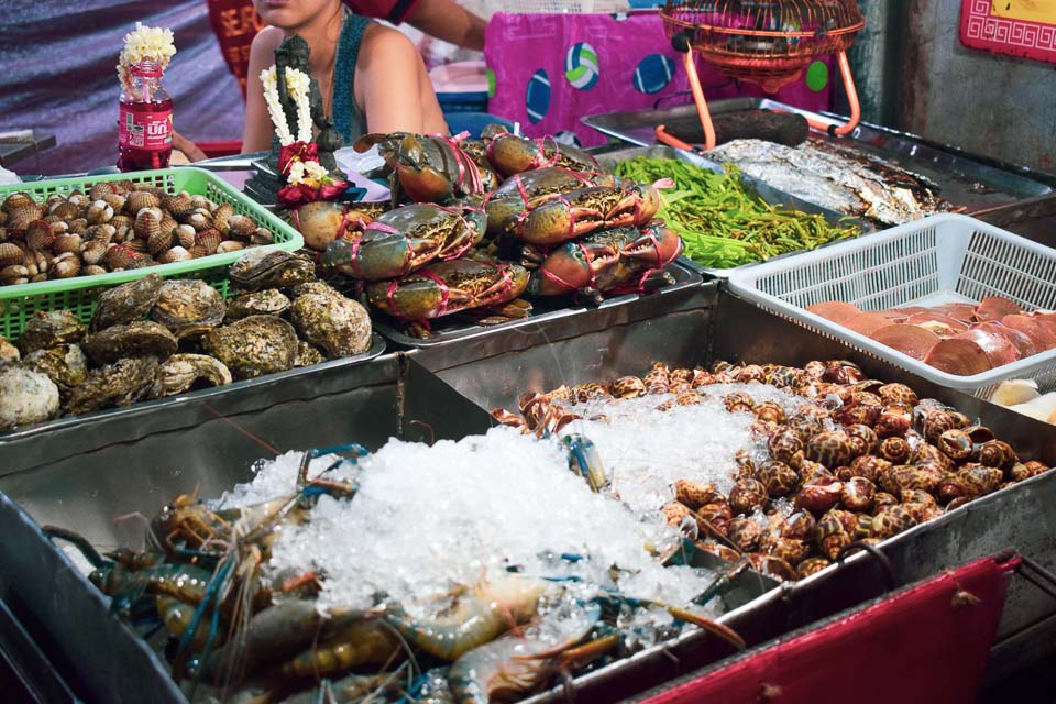 Streetside food in Bangkok
