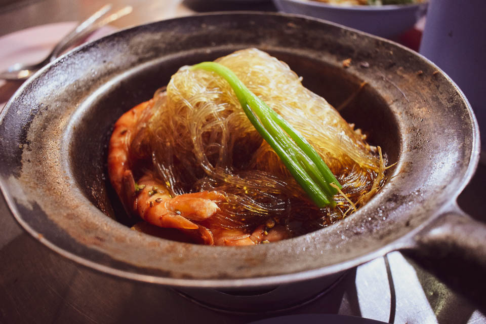 The Grilled Prawn in Glass Noodles