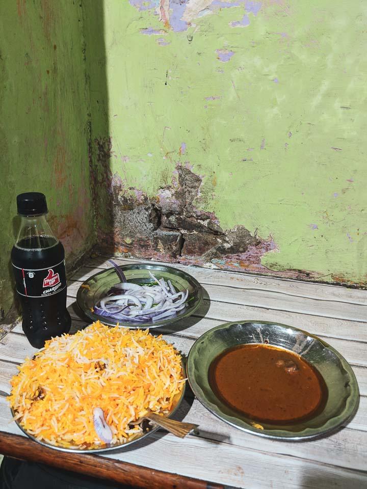 Lucknow Biryani at Ali Stall