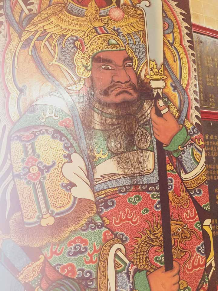 Mural at the Chinese temples at Bangkok