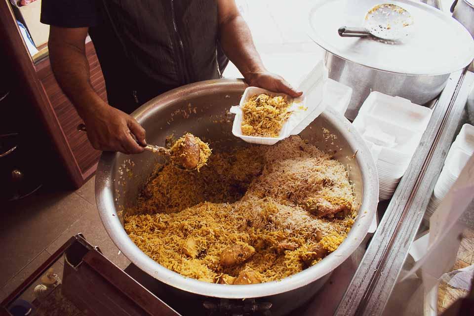 Biryani with potato in Mauritius: indian food in Mauritius