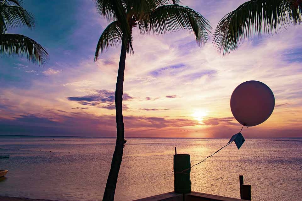 sunset from the sugar beach mauritius
