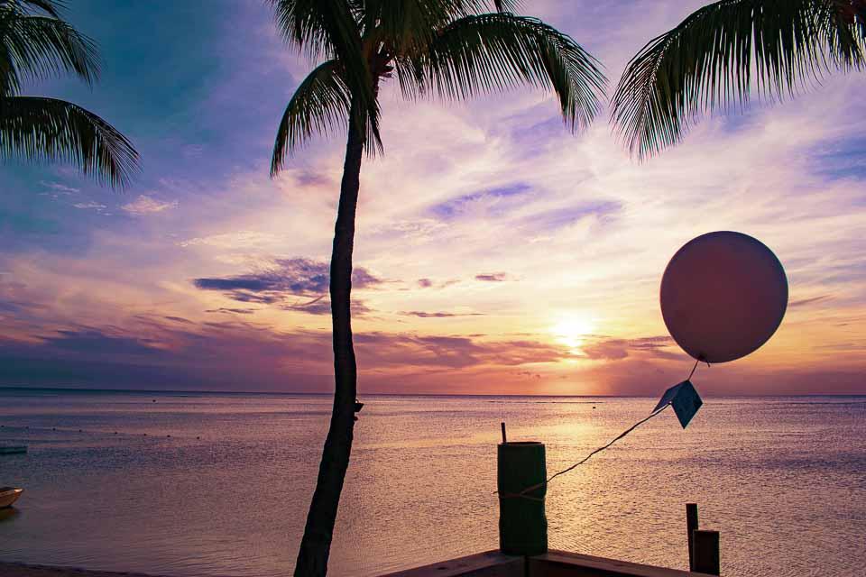 sunset from the sugar beach mauritius