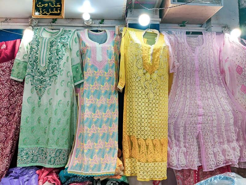 Chikankari suit for women in Lucknow