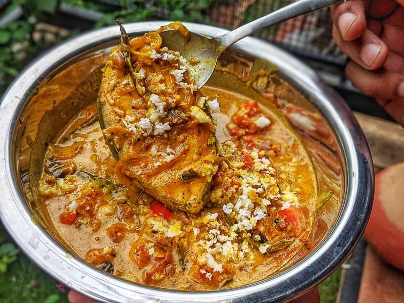 meen mouli recipe. Kerala fish stew recipe.