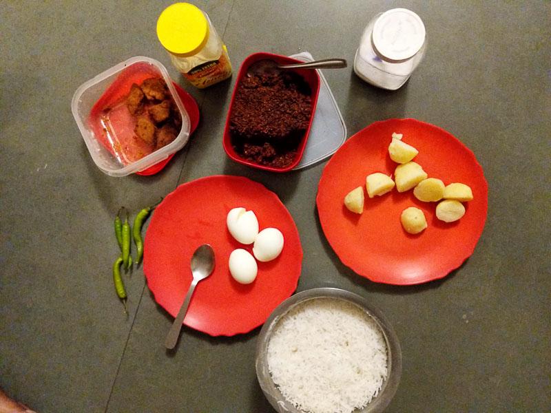 ALu Bhate Ghee: comfort food from bengal