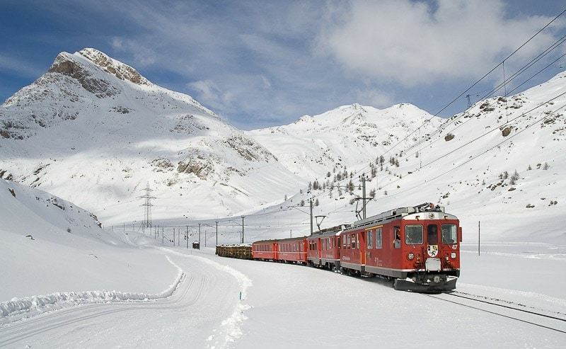 best train routes in europe: Swiss alps and more