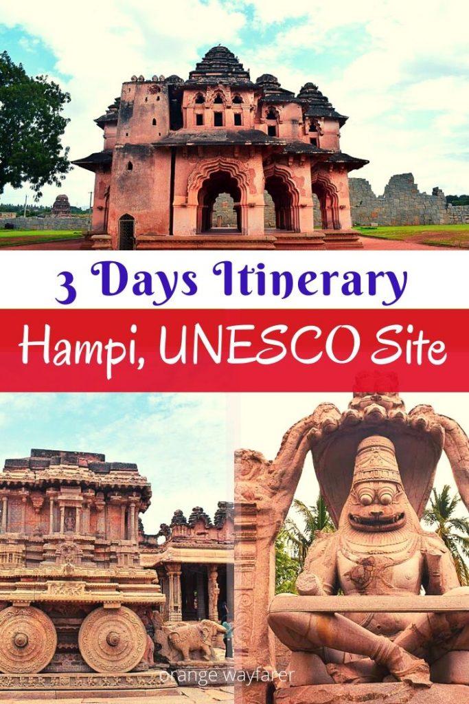 hampi travel guide. Things to do in Hampi. Hampi places to stay hampi places to visit. hampi in 3 days. UNESCO world heritage sites in India. Weekend gateway from bangalore. Things to do in Hampi. Hampi travel guide. Hampi travel blog. Vittala temple in hampi. Musical pillars in temple in India. Vijayanagara empire. hampi travel guide for solo women travel. Things to do in Hampi for 3 days. #hampi #unescoheritagesiteinindia #karnataka #indiatraveldestinations #southindiatravel #indiantempletowns