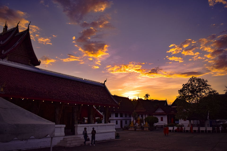 Sunset spots at Luang Prabang Laos: travel Blog for Luang Prabang