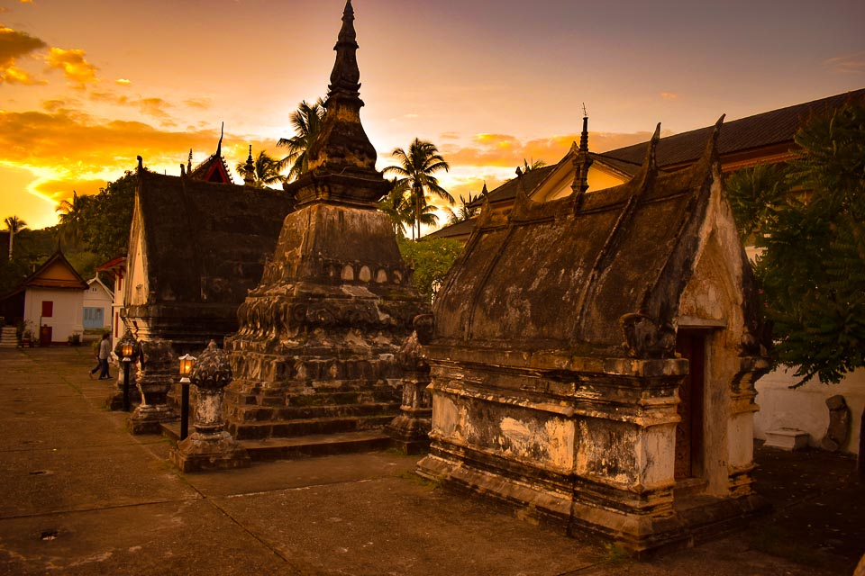 old temples of Luang Prabang Laos