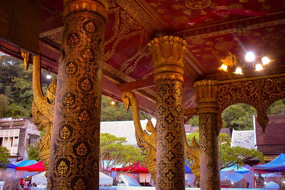 Wall panels of luang prabang Laos