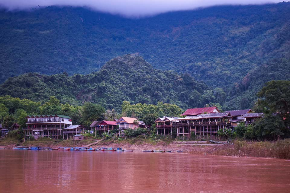Muang Ngoi Neua on Nam Ou river at Nong Khiaw