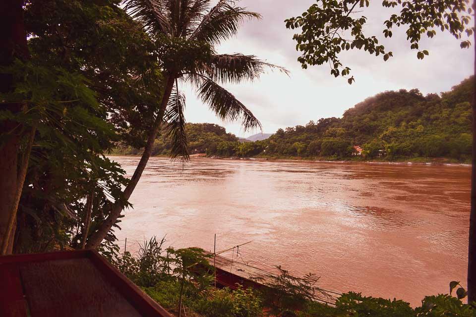 Mekong river boat ride in Luang Prabang laos